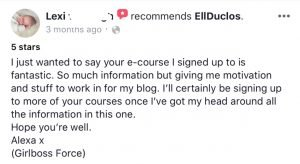 Reviews on Pinterest with Ell