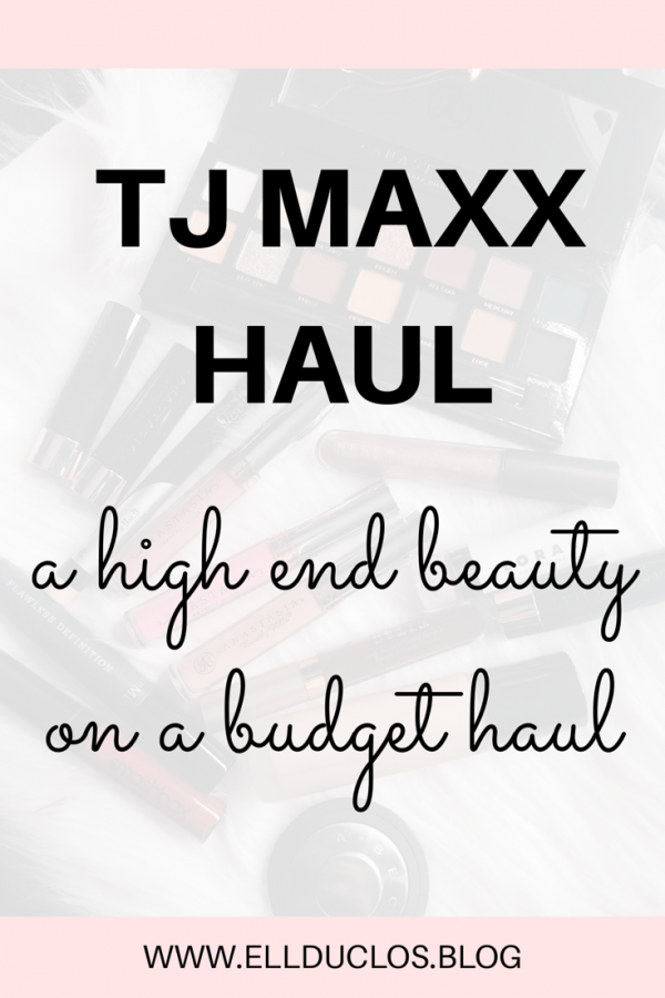 High end beauty on a budget, a tj maxx haul. Make up swatches of high end beauty products I purchased.