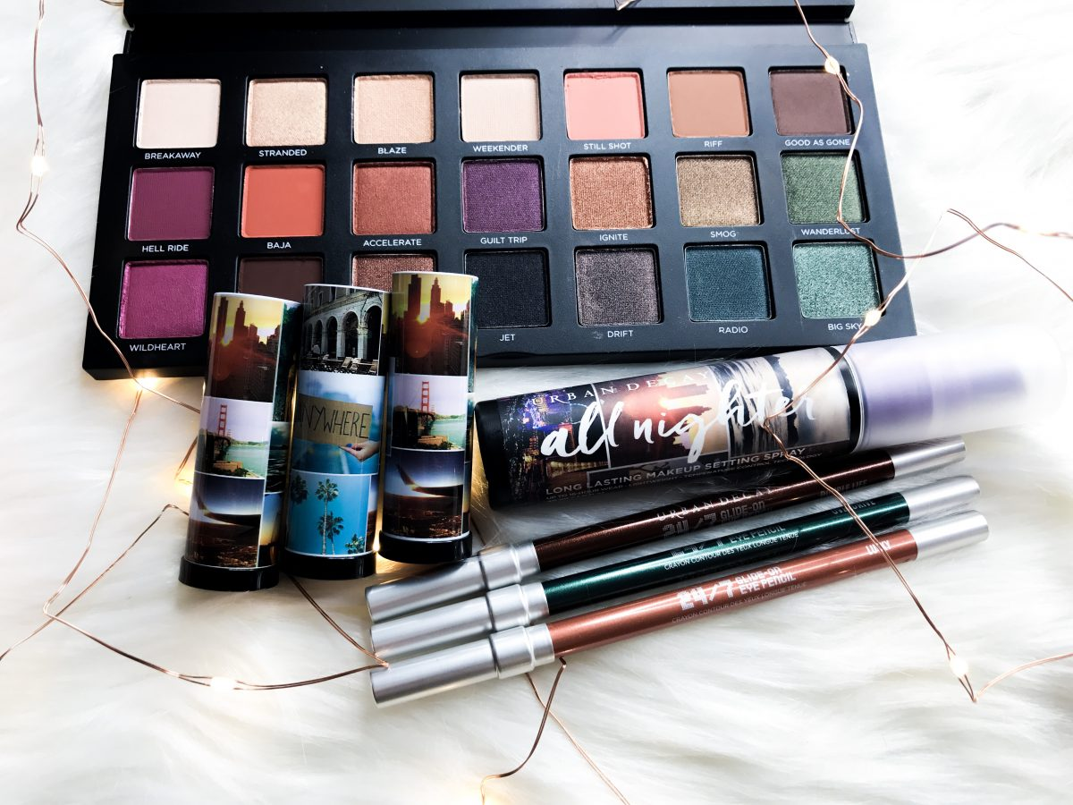 My Favorite Eyeshadow palettes featuring urban decay's born to run palette.