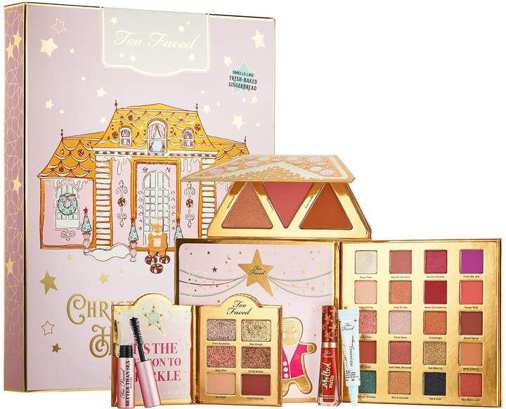 2019 Sephora holiday gift sets, too faced Christmas cookie house party gift set.