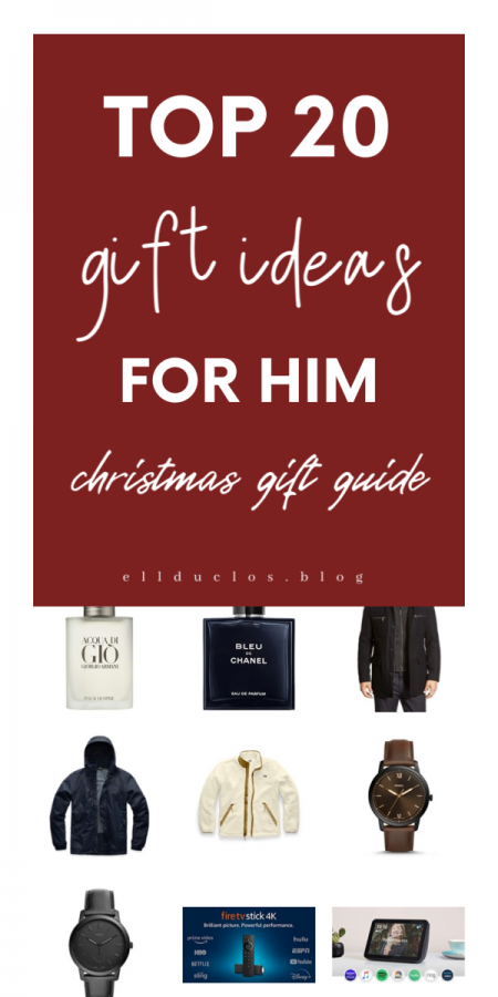 Top 20 gift ideas for him. What to get the man in your life for Christmas. 20 Christmas gift ideas for him.