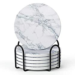 Marble coasters for your office.