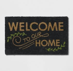 Fall welcome mat to add to your front steps from Target