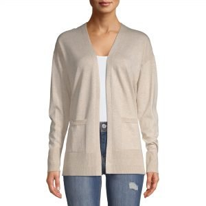 beige fall cardigan from Walmart. Fall fashion finds that are affordable.