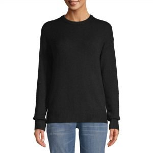Black pull over sweater from Walmart. Affordable Fall Fashion Finds