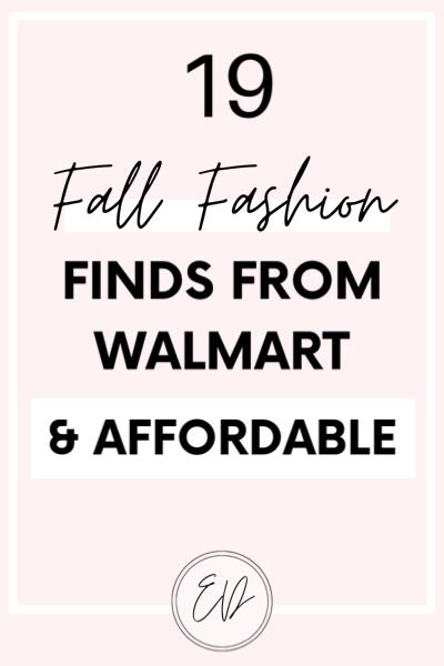 19 Fall Fashion Walmart Finds