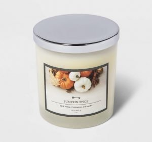 Pumpkin spice fall candle from Target