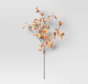 fall leaf vase filler from Target. Fall home decor finds.