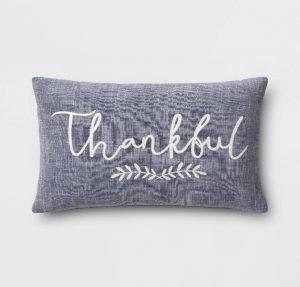 Thankful throw pillow from Target - Fall throw pillows