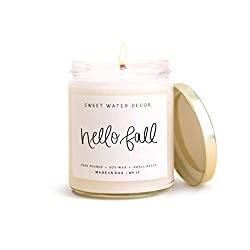 hello fall candle from Amazon - Fall Home Decor From Amazon