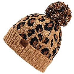 Leopard print beanie from Amazon for fall and winter