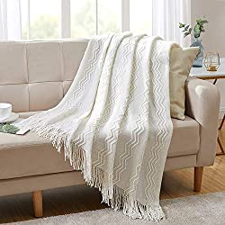 Knitted throw blanket from Amazon